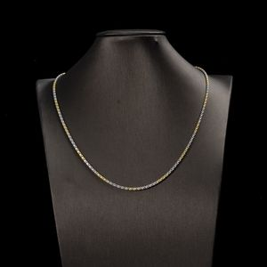 Jewelry - 2- color Sterling silver chain